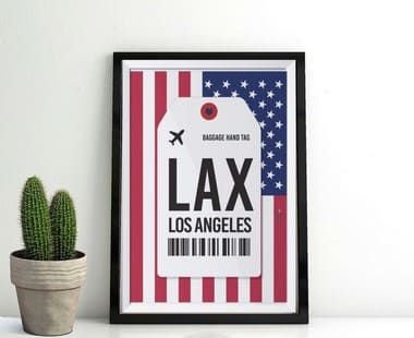 Pôster Aeroporto LAX,  Los Angeles, Califórnia - Estados Unidos