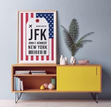 Pôster Aeroporto JFK - New York - John F. Kennedy