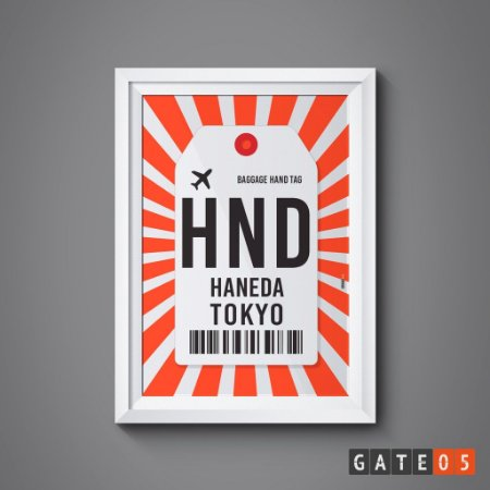 Pôster Aeroporto Tokyo, Japão - Haneda
