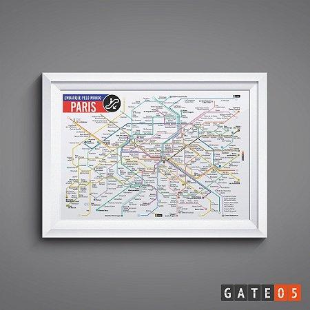 Pôster Embarque Pelo Mundo - Metrô Paris.