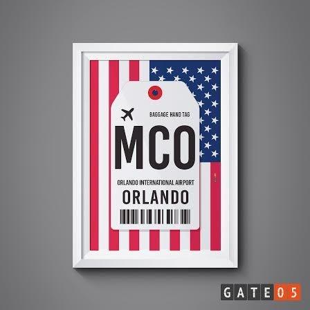 Pôster Aeroporto MCO - Orlando, Estados Unidos da Ámerica