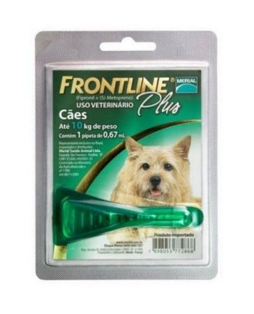 Frontline Plus Cães Até 10kg - Anti Pulgas e Carrapatos