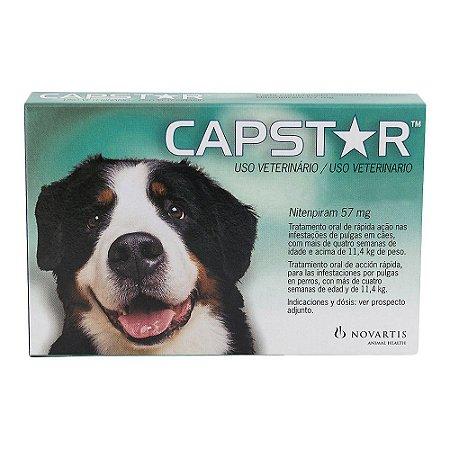 Antipulgas Capstar Elanco 57mg - Cães 11 a 57kg - Cx 6 Comprimidos