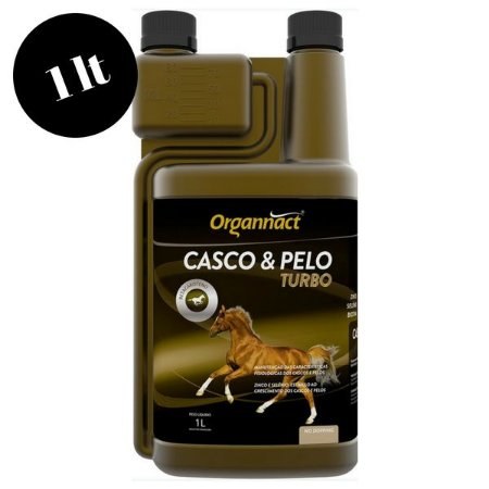 Casco & Pelo Turbo Organnact 1 Litro | Suplemento para Cascos e Pelos de Equinos