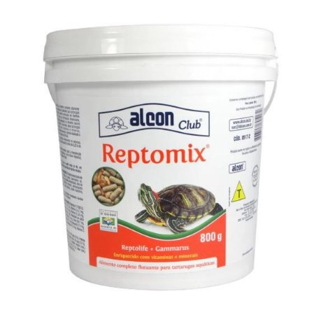 Raçao Alcon Reptomix Para Tartarugas Pote 800 gr