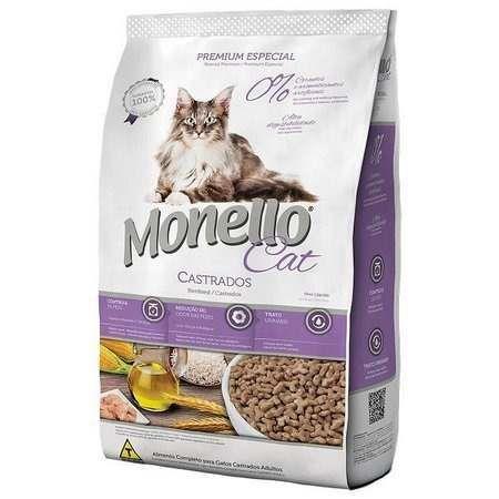 Ração Monello Cat Adulto Castrados 10,1kg