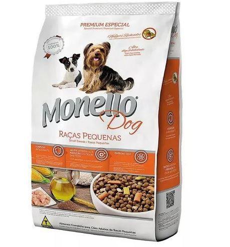 Ração Monello Dog Raças Pequenas Com Nuggets Recheados 7kg