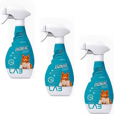 Eliminador De Odor Spray EnziMac Cães 500ml - Kit 3 Un