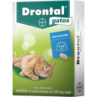 Vermífugo Drontal Gatos 339mg Bayer - Cx 4 Comprimidos