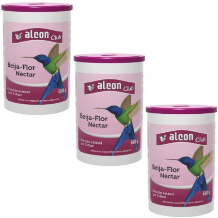 Alcon Club Néctar Para Beija Flor 600g - Kit 3 un
