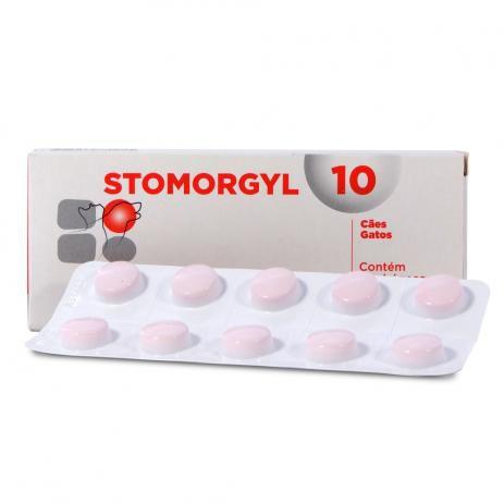 Antibiótico Stomorgyl 10 - Para Cães E Gatos Caixa 20 Comprimidos