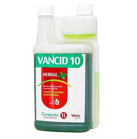 Desinfetante Para Canil Vancid 10 Herbal 1 Litro