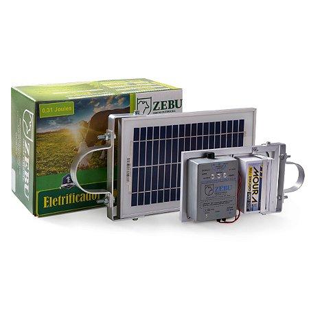Cerca Eletrica Solar Zebu Zs20bi 0,31 Joules c/ Bateria Moura