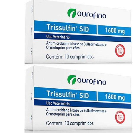 Trissulfin Sid  1600mg Cx 10 Comprimidos - Kit 2 Caixas