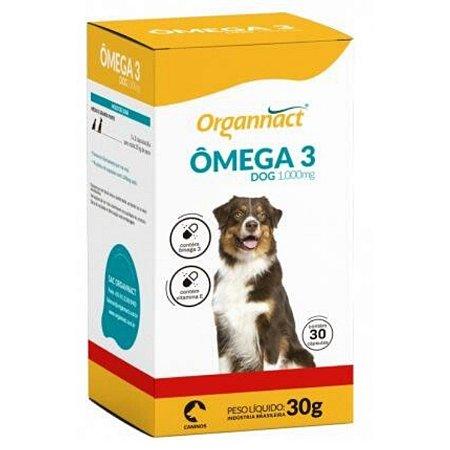 Suplemento Organnact Omega 3 Dog 1000mg 30g - 30 Cápsulas