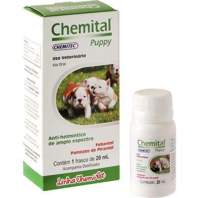 Vermífugo Para Filhotes de Cães Chemital Puppy 20ml