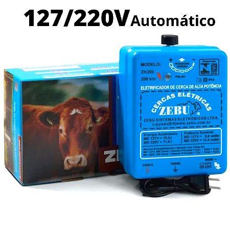 Cerca Elétrica Rural Zebu Zk200 Bivolt