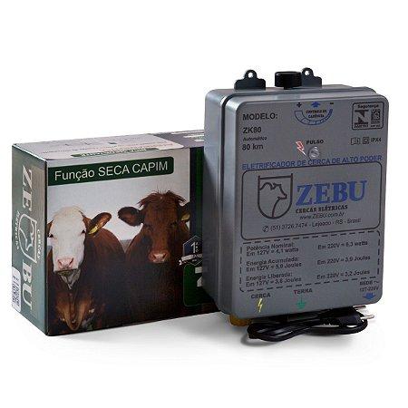 Cerca Elétrica Zebu Zk80 80km Bivolt - Função Seca Capim