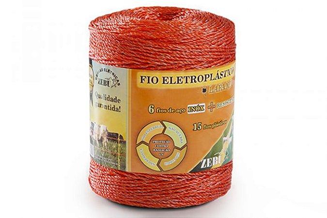 Fio Eletroplástico Para Cerca Eletrica Laranja 500mt - Zebu
