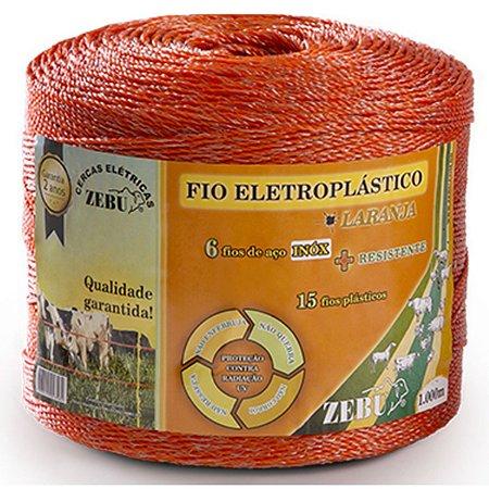 Fio Eletroplástico Para Cerca Eletrica Laranja 1000mt - Zebu