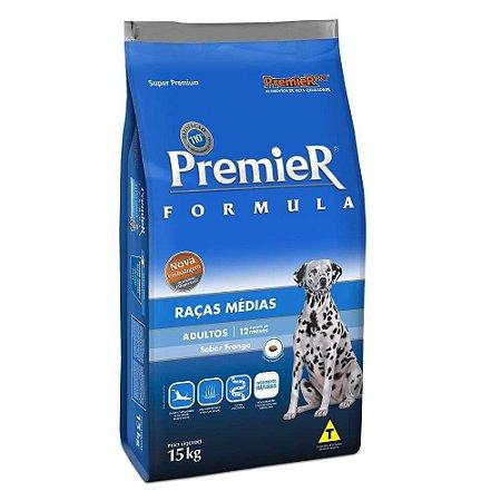 Premier Fórmula para Cães Adultos de Raças Médias - Sabor Frango 15kg