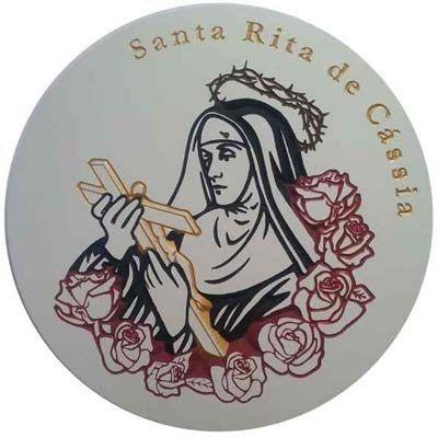 Imagem de Santa Rita de Cássia Entalhada no MDF