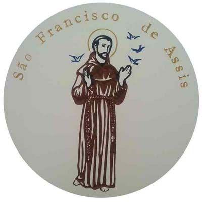 Imagem de São Francisco de Assis Entalhado no MDF