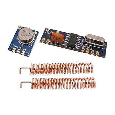 Transmissor e Receptor RF433