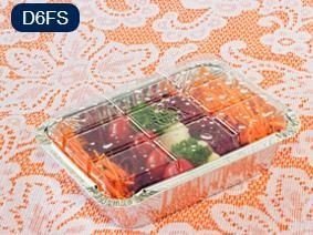 Bandeja D06 FS - 500ML - Microondas / Forno / Freezer - WYDA - com tampa PET - caixa com 50 unidades