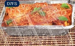 Bandeja D07 FS - 750 ml - Microondas / Forno / Freezer - WYDA - com tampa PET - pacote com 10 unidades