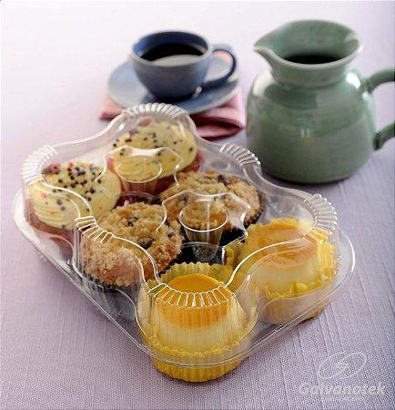 Embalagem para 6 doces ou salgados caixa com 10 unidades - G16 - Galvanotek