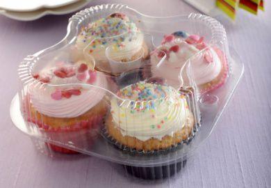 Embalagem Para 4 Doces , Empadas , cupcake - caixa com 100 unidades - G15 - Galvanotek