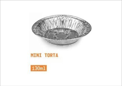 Forma de alumínio para mini torta - 130ml - com 100 unidades - mello