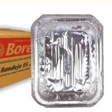 Bandeja de alumínio 220 ml mini porções caixa com 200 unidades - B95 - Boreda