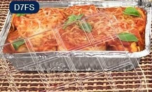 Bandeja D07 FS - 750ML - Microondas / Forno / Freezer - WYDA - com tampa PET - caixa com 50 unidades