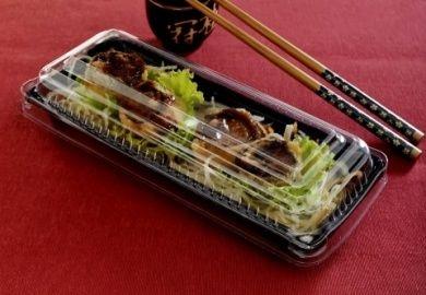 Embalagem Retangular P/ Comida Japonesa - Galvanotek GO 905 - pacote com 10 Unidades