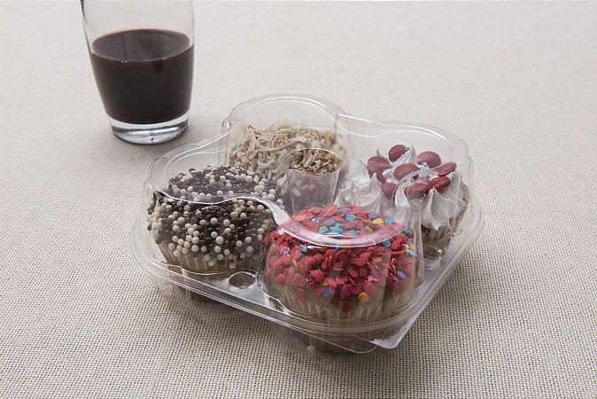 Embalagem Para 4 Doces , Empadas , cupcake - pacote com 10 unidades - G15 - Galvanotek