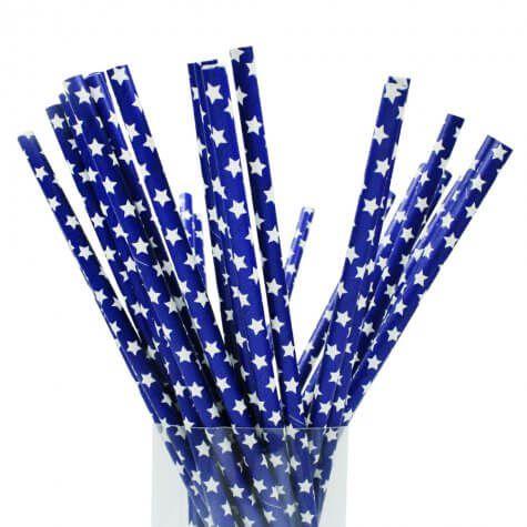 Canudo de papel biodegradável embalado individualmente 19,7 cm x 6 mm - pacote com 100 unidades