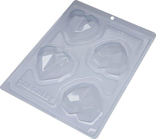 Forma trufa coração lapidado - 65g Ref 9836 - BWB