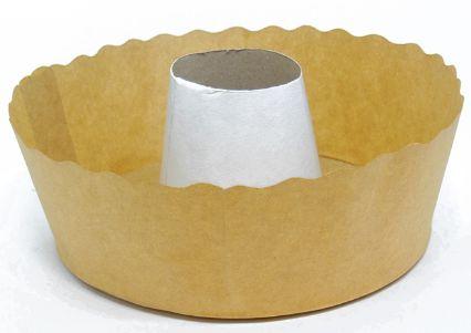 Forma para bolo suíço kraft pacote com 10 - 1000g - Petropel