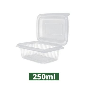 Pote retangular com tampa articulada pacote com 24 unidades - Rioplastic