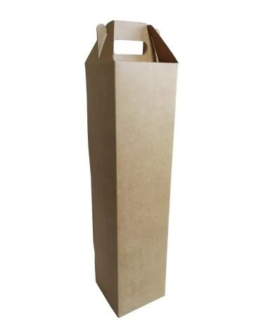 Caixa para garrafa pacote com 10 kraft - G 332X10X106 - Assk