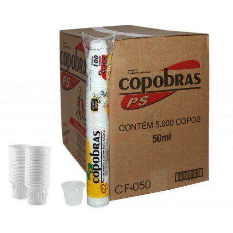 Copos Descartáveis  50 ml. COPOBRAS 5000 u. (50x100)