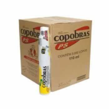 Copos Descartáveis 110 ml. COPOBRAS 3000 u. (30x100)