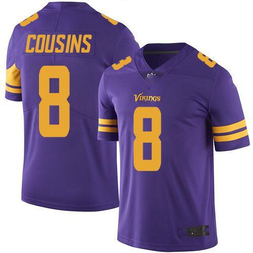 Camisa Minnesota Vikings - 33 Dalvin Cook - 8 Kirk Cousins