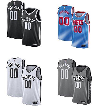 Camisa Brooklyn Nets - Kevin Durant #7 - James Harden #7 - Kyrie Irving #11 - com personalização de nome e número