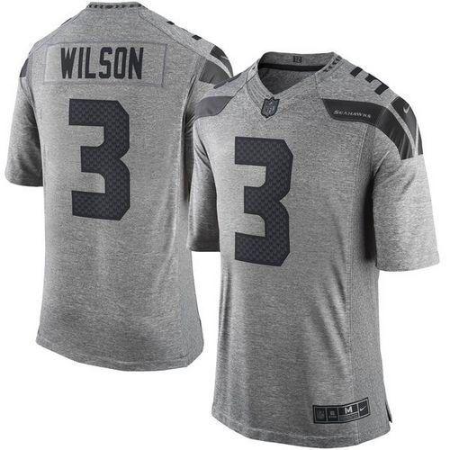 Jersey - 3 Russell Wilson - Gridiron Grey - Seattle Seahawks - MASCULINA