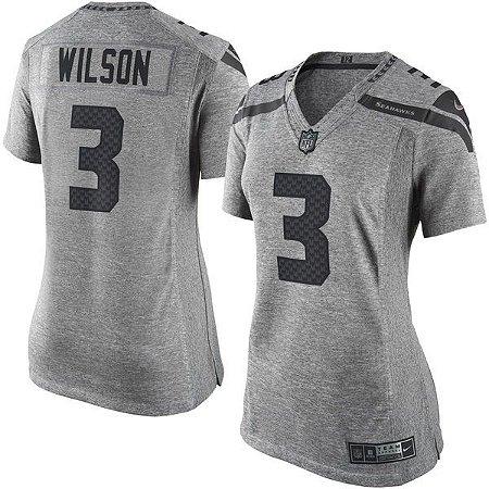 Jersey - 3 Russell Wilson - Gridiron Grey - Seattle Seahawks - FEMININA