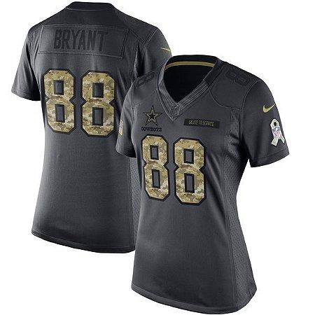 Jersey - 88 Dez Bryant  - Salute to Service - Dallas Cowboys - FEMININA