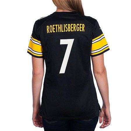 Jersey - 7 Ben Roethlisberger - Pittsburgh Steelers - FEMININA